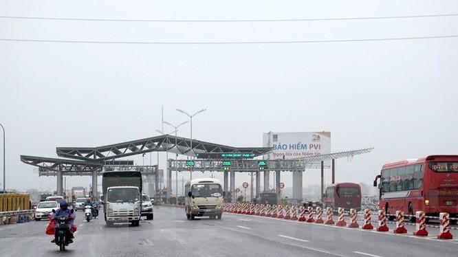 Trạm thu phí cao tốc Hà Nội-Bắc Giang. Nguồn Internet