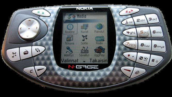 Nokia N Gage (ra mắt 2003) Mẫu điện thoại hướng đến người chơi game với thiết kế độc đáo đã gây tiếng vang khi lần đầu ra mắt vào cuối năm 2003. Tuy không thành công, đây lại là một trong những điện thoại đầu tiên mở đầu cho ngành công nghệ game di động.