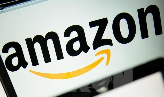 Biểu tượng của tập đoàn Amazon. (Nguồn: AFP/TTXVN)