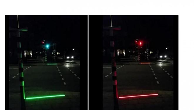 Đèn tín hiệu giao thông của tương lai. Ảnh: TheVerge.
