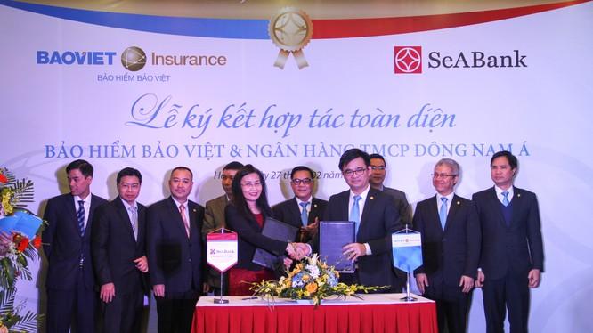 Tổng công ty bảo hiểm Việt Nam và Ngân hàng TMCP Đông Nam Á ký thỏa thận hợp tác toàn diện