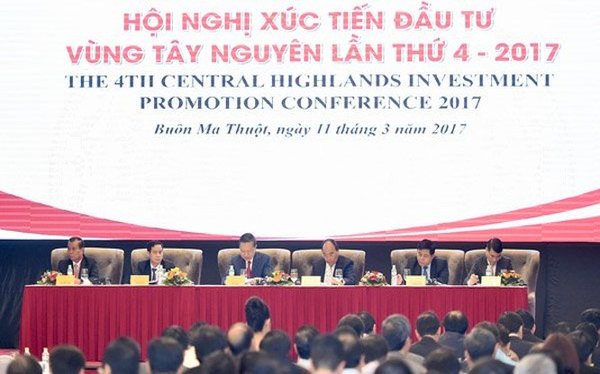 Hội nghị Xúc tiến đầu tư vùng Tây Nguyên lần thứ 4
