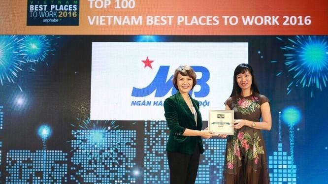 Giám đốc khối Nhân sự Trần Thị Bảo Quế nhận giải