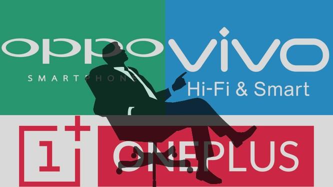 Cả ba nhãn hiệu smartphone Oppo, Vivo, OnePlus đều do một người sở hữu