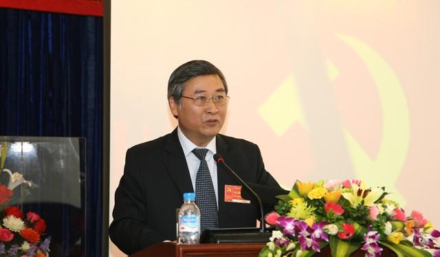 Ông Phí Thái Bình phát biểu tại 1 cuộc họp của Vinaxonex