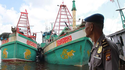 Các tàu cá của Việt Nam bị Indonesia bắt giữ. Nguồn Internet.