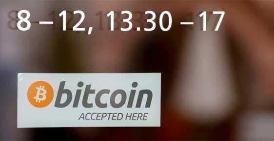 Một điểm chấp nhận giao dịch bitcoin ở Thuỵ Sĩ