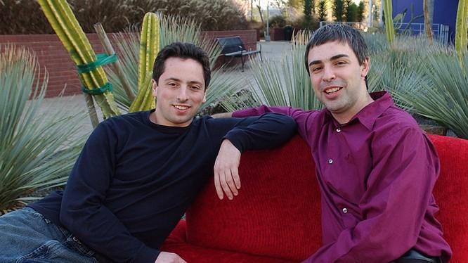 Hai đồng sáng lập Larry Page và Sergey Brin của Google