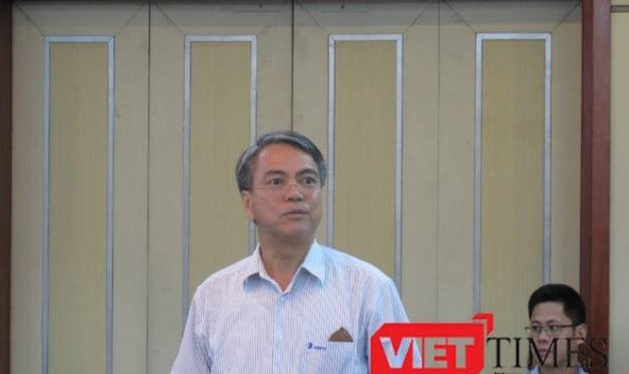 Ông Trần Mạnh Hùng, Chủ tịch Tập đoàn VNPT báo cáo tại Hội nghị giao ban quản lý nhà nước ngành TT&TT chiều 5/6/2017.