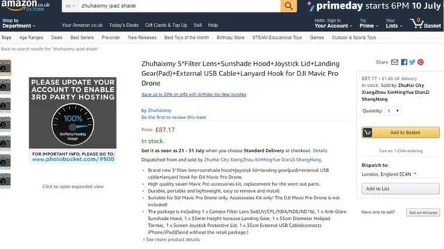 Nhiều mặt hàng bị mất hình ảnh sản phẩm của họ trên trang Amazon - Ảnh: Amazon