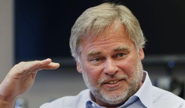 Ông Eugene Kaspersky, chủ tịch kiêm CEO công ty Kaspersky Lab, trong một cuộc phỏng vấn tại New York - Ảnh: Reuters