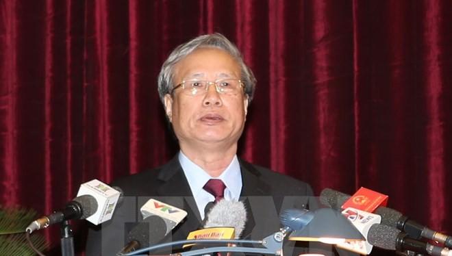 Ông Trần Quốc Vượng, Ủy viên Bộ Chính trị, Bí thư Trung ương Đảng, Chủ nhiệm Ủy ban Kiểm tra Trung ương. (Ảnh: Trí Dũng/TTXVN)