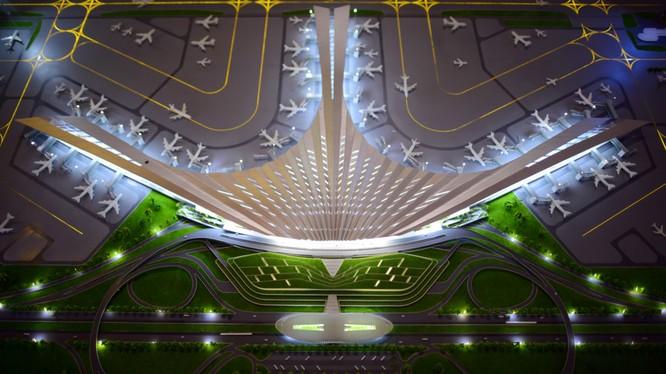 Phương án thiết kế hình hoa sen cách điệu cho sân bay Long Thành. Nguồn Interent