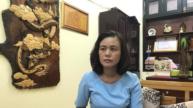 Phó chủ tịch UBND phường Văn Miếu Nguyễn Thị Thúy Hà.