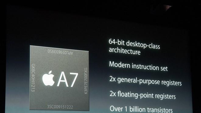 Chip A7 của Apple là một trong những thiết bị vi phạm bản quyền.