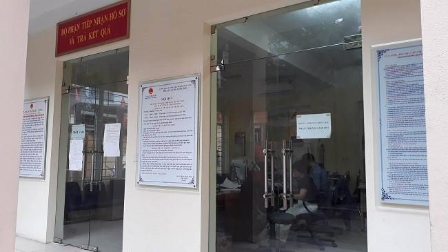 Bộ phận hành chính phường Văn Miếu. Ảnh Internet