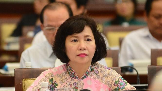 Thứ trưởng Hồ Thị Kim Thoa trong một phiên họp tại TP.HCM - Ảnh: Quang Định/Tuổi trẻ