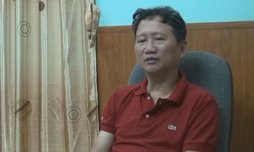 Trịnh Xuân Thanh xuất hiện trong chương trình thời sự 19h của VTV ngày 3/8 Nguồn: VTV.