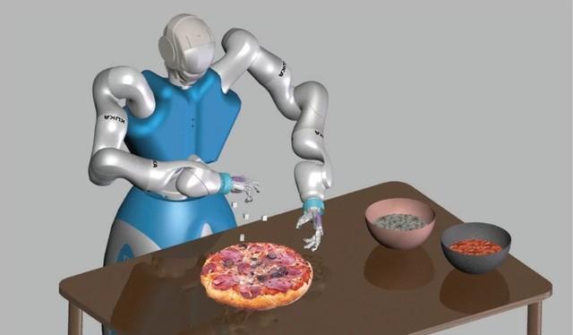 Mô phỏng robot chế tạo bánh pizza