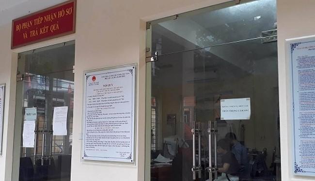 Bộ phận hành chính phường Văn Miếu