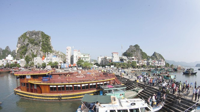 Một góc Cảng Vân Đồn. Nguồn: Báo Quảng Ninh