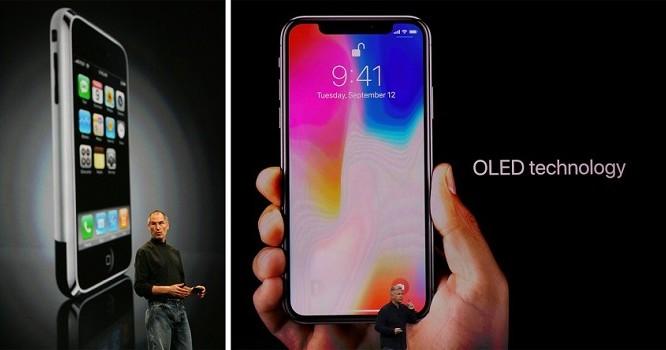 Sự khác biệt mà 10 năm có thể đem lại (ảnh: Apple)