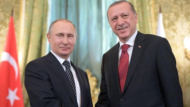 Tổng thống Nga Putin và Tổng thống Thổ Nhĩ Kỳ Erdogan