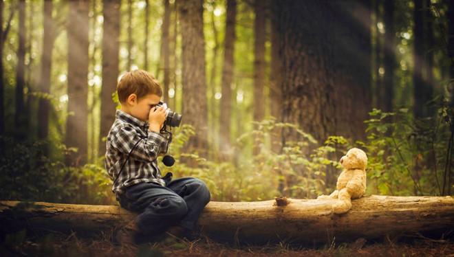 Một trong những bức ảnhPhillip Haumesser chụp cậu con trai mình bằng bộ thiết bị giá 200 USD.