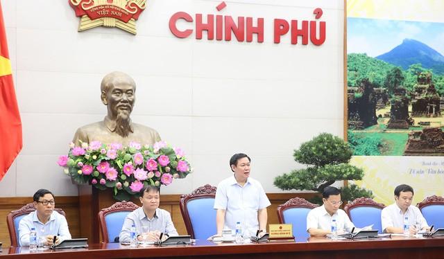 Phó Thủ tướng Vương Đình Huệ chủ trì họp Ban Chỉ đạo Điều hành giá (Ảnh: VGP).