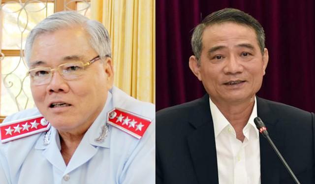 Tổng Thanh tra Chính phủ Phan Văn Sáu và Bộ trưởng GTVT Trương Quang Nghĩa.
