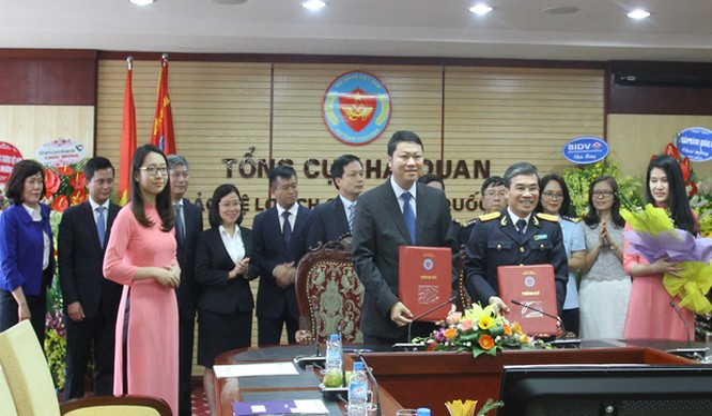 Lễ ký kết giữa BIDV và Tổng cục Hải quan. Ảnh: Tổng cục Hải quan.