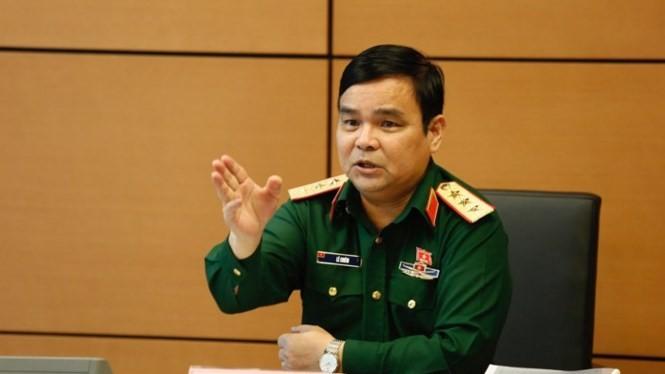 Tượng tướng Lê Chiêm. Ảnh Như Ý/Tiền phong