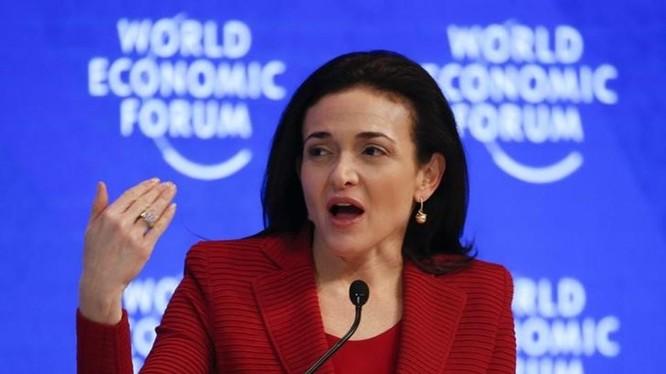 Giám đốc điều hành Facebook, bà Sheryl Sandberg. Ảnh: WEF