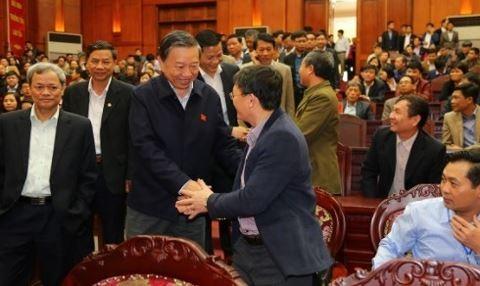 Đại biểu Quốc hội tỉnh Bắc Ninh, Bộ trưởng Công an Tô Lâm gặp gỡ cử tri Bắc Ninh. Nguồn: ANTĐ