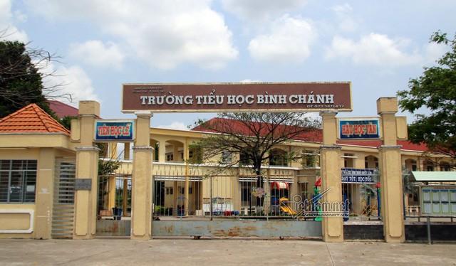 Trường Tiểu học Bình Chánh, nơi diễn ra vụ việc. Nguồn: VNN