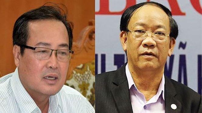 Ông Huỳnh Khánh Toàn, Phó Chủ tịch UBND tỉnh Quảng Nam; ông Đinh Văn Thu, Chủ tịch UBND tỉnh Quảng Nam. Ảnh Tienphong