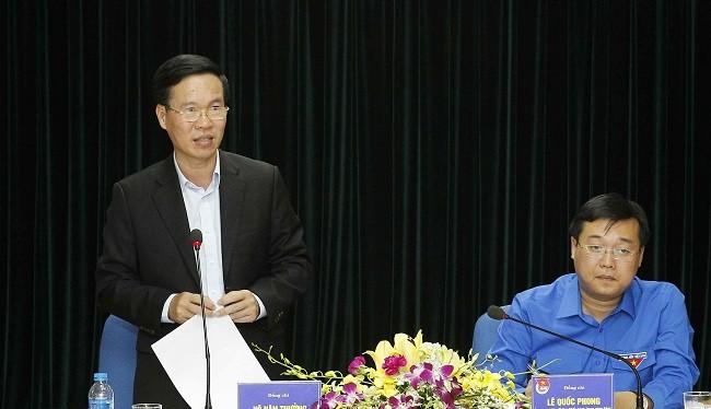 Ông Võ Văn Thưởng phát biểu tại buổi làm việc. Ảnh: Ban Tuyên giáo Trung ương.