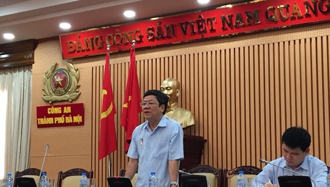 Công an TP Hà Nội tổ chức họp báo, chiều 11-6.
