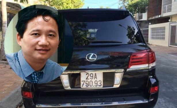Ông Trịnh Xuân Thanh và chiếc Lexus tư nhân đã từng được cấp biển xanh