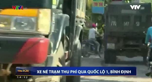 Xe né trạm thu phí BOT Nam Bình Định