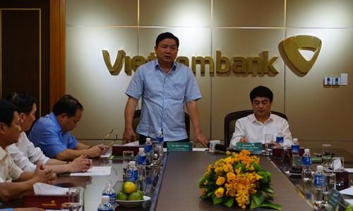Bí thư Thăng làm việc với Vietcombank.
