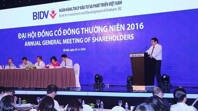 Đại hội đồng cổ đông thường niên BIDV năm 2016