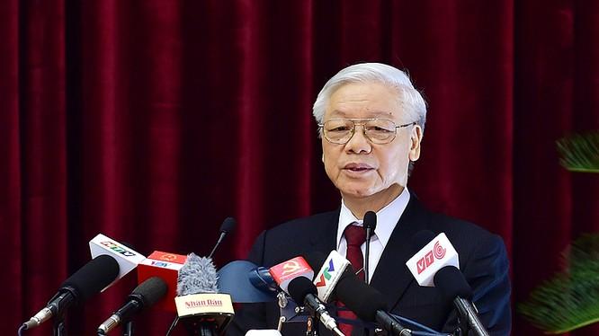 Tổng Bí thư Nguyễn Phú Trọng phát biểu tại Hội nghị - Ảnh VGP
