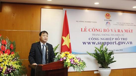Thứ trưởng Bộ Công Thương Đỗ Thắng Hải phát biểu tại Lễ ra mắt