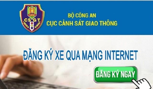 Người dân tại Hà Nội và TP. HCM có thể đăng ký xe qua mạng internet