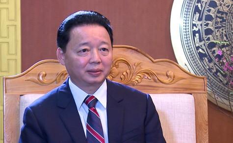 """Bộ trưởng Trần Hồng Hà: """"Nếu xem nhẹ môi trường, chúng ta sẽ gánh chịu ô nhiễm, cạn kiệt tài nguyên, mắc nợ đời sau"""". Ảnh: VGP/Thu Cúc"""