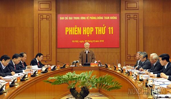 Phiên họp thứ 11 Ban Chỉ đạo Trung ương về phòng, chống tham nhũng