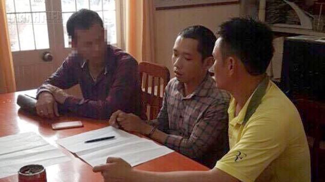 Nghi can Lê Văn Hưng tại cơ quan điều tra - Ảnh: Thanh Niên