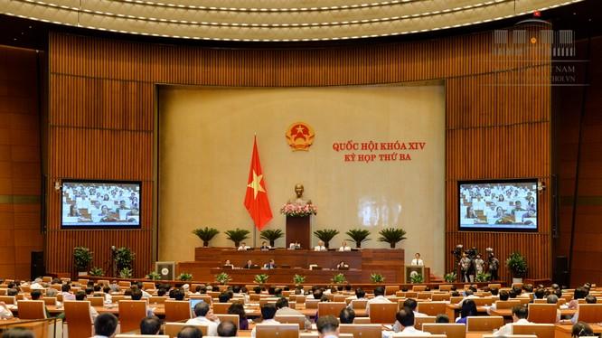 Luật Hỗ trợ doanh nghiệp nhỏ và vừa chính thức được Quốc hội thông qua với đa số đại biểu tán thành. - Ảnh: Cổng TTĐT Quốc hội