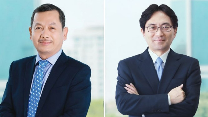 Hai tân Phó Chủ tịch HĐQT Eximbank, ông Đặng Anh Mai và ông Yasuhiro Saitoh.